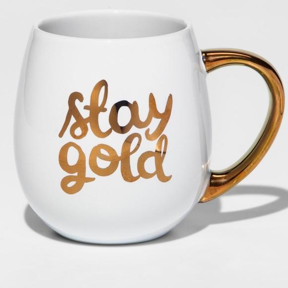 Target Threshold White Gold Graphic Coffee Mug